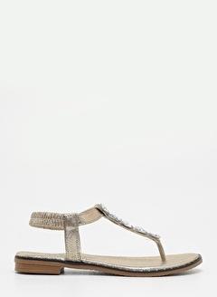 F By Fabrika Fabrika Düz N Taş Detaylı Ik Renk Aneta Kadın Sandalet